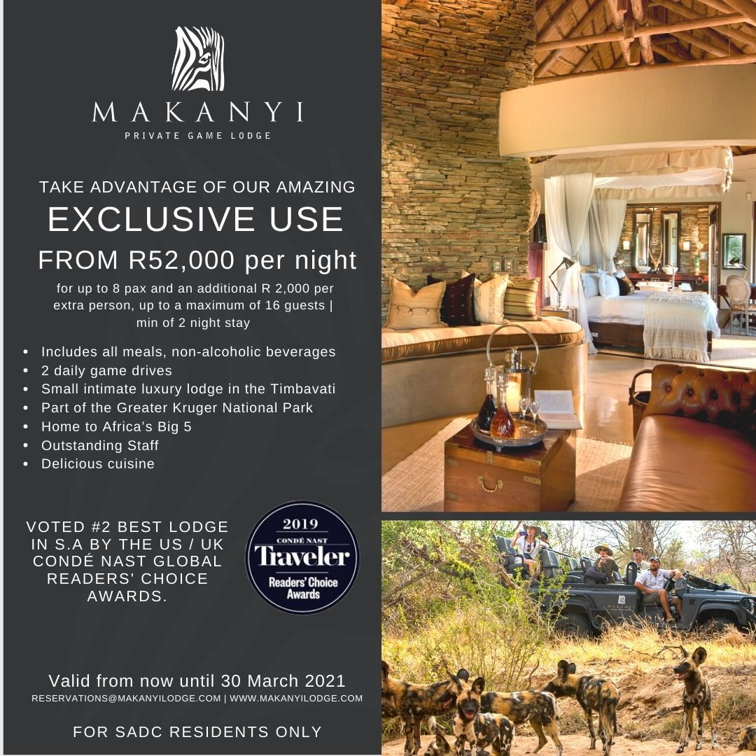 Makanyi Lodge exclusive use special
